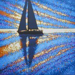 sailing the sparkling sea. gordon hunt. wychwood art. full image-728c4f8a