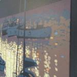 sunset reflections – Porthleven. gordon hunt. wychwood art. side view-a78d33d5