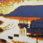 sunset sparkles – salcombe, devon. gordon hunt. wychwood art. close up-b069d8a6