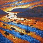 sunset sparkles – salcombe, devon. gordon hunt. wychwood art. full image-dc79fb61