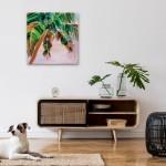 Alanna Eakin Anjuna in situ home interior tropical palm tree painting in oil-b356c14c