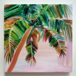 Alanna Eakin Anjuna on whtie wall tropical palm tree painting square-aceec39f