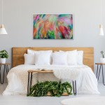 Alanna Eakin Flowers Painting Abstract contemporary bedroom art above bed-0a69d78f