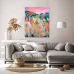 Alanna Eakin Hope and Dream Interior Painting Pink and green abstract landscape-18fbaa8b