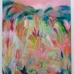 Alanna Eakin Hope and Dreams Large colourful pink and greens abstract landscape-25b4a37a