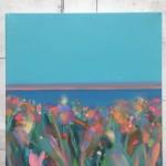 Blue Sky Pink Stripe Island I wychwood art-c08c3a3c
