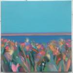 Blue Sky Pink Stripe Island I wychwood art-cef38eab