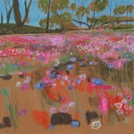 Elaine Kazimierczuk Everlastings and Cornflowers on Cunderdin Hill, Western Australia, Wychwood Art-4371c0d4