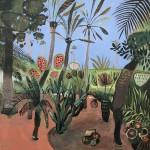 Elaine Kazimierczuk Majorelle Gardens with Palms-9e0f36e9