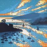 Hall walk sparkles. Gordon Hunt. Wychwood art. limited edition print. image-406abd49