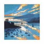 Hall walk sparkles. Gordon Hunt. Wychwood art. limited edition print. with border-b5060175