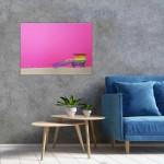 LA pink hut blue chair. 1080-b27b530c