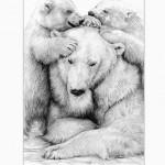 POLAR BEAR FAMILY WHITE BACKGROUND-156a694a