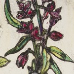 Vicky Oldfield, Moments of Reflection, Hand coloured collagraph print with chine colle, Contemporary hand made print. detail 3 22jpg-015fbc33