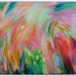 Wychwood Art Alanna Eakin Flowers Abtract Floral Artwork contemporary modern original home deocr framed-f3d17c50