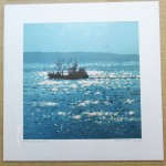 home with the catch. Gordon Hunt. Wychwood art. limited edition-32e23cd4