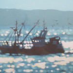 home with the catch. Gordon Hunt. Wychwood art. limited edition close up1-8795c06a