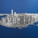 michael wallner_Manhattan From Above_aluminium_wychwood art-c21cdb71