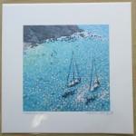 turquoise bay. Gordon Hunt. Wychwood art. limited edition-da85376a
