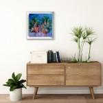 Alanna Eakin Bangkok palm tree oil painting in room setting 1-4e09985f