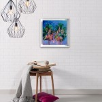 Alanna Eakin Bangkok palm tree oil painting in room setting 2-f15929d4