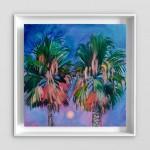 Alanna Eakin Bangkok palm tree oil painting on white wall-bda79fd2
