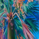 Alanna Eakin Honolulu Palm Tree painting close up oil paint detail blossom-cae0d6f5