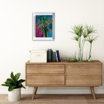 Alanna Eakin Honolulu Palm Tree painting in situ 3-f877dd0c