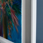 Alanna Eakin Honolulu Palm Tree painting side of white frame-b90f9298