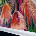 Alanna Eakin Mirissa oil painting palm tree pink square paint detail-220592b2