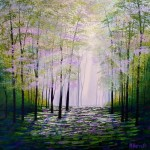 Amanda Horvath     Forest Wisdom      Landscape Painting, Impressionist Art, Affordable Contemporary Painting-c57ff7f7