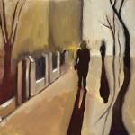 Eleanor Woolley | Street Shadow 1 | Landscape | Figurative | Expressionistic-b335de37