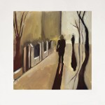 Eleanor Woolley | Street Shadows 1 | Landscape | Figurative |  Expressionistic | White-5f7f7bed