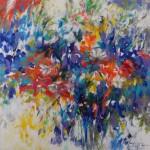 Mary Chaplin Delphiniums and cosmos  Wychwood Art-0cc99c48
