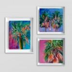 Palm tree trio Alanna Eakin White Wall-7f858db3