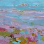 Teresa Pemberton Summer Pink Light Wychwood 101x150cm oil on canvas 2750-17b3150b