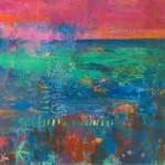 Teresa Pemberton Wychwood Floating Gardens (2) 87 x 107 cm oil on canvas 3,250-29928258