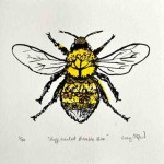 Vicky Oldfield, Buff Tailed Bee, Wychwood Art, Screen print, Contemporary art, bee picture, c, jpeg-0423dce8