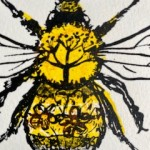 Vicky Oldfield, Buff Tailed Bee, Wychwood Art, Screen print, Contemporary art, bee picture, d, jpeg-c673a0be