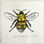 Vicky Oldfield, Buff Tailed Bee, Wychwood Art, Screen print, Contemporary art, bee picture, jpeg-b06f9934