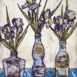 Vicky Oldfield, Cool Blues,  Wychwood Art, Original Print,  Royal Academy Summer Exhibition Artist, 5 jpeg-1f28e9dd
