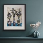 Vicky Oldfield, Cool Blues,  Wychwood Art, Original Print,  Royal Academy Summer Exhibition Artist, in situ, jpeg-3ba5fabc