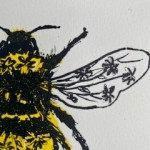 Vicky Oldfield, Garden Bumblebee, Wychwood Art, Screen print, Contemporary art, bee picture, c 1, jpeg-5a8b43a2