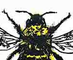 Vicky Oldfield, Garden Bumblebee, Wychwood Art, Screen print, Contemporary art, bee picture, detail 1 jpeg-13c1eeea
