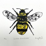 Vicky Oldfield, Garden Bumblebee, Wychwood Art, Screen print, Contemporary art, bee picture, jpeg-d6463562