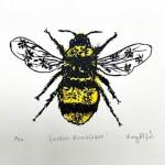 Vicky Oldfield, Garden Bumblebee, Wychwood Art, Screen print, Contemporary art, bee picture, jpeg-d6463562