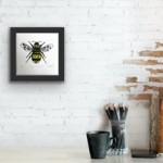 Vicky Oldfield, Garden Bumblebee, Wychwood Art, Screen print, Contemporary art, bee picture,in situ 2, jpeg-13260c8c