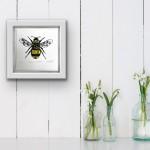 Vicky Oldfield, Garden Bumblebee, Wychwood Art, Screen print, Contemporary art, bee picture,in situ, jpeg-0041b15d