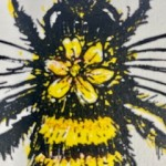 Vicky Oldfield, Hairy Footed Bee, Screen print, Contemporary art, bee picture, detail, jpeg-dec2c3ca