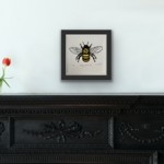 Vicky Oldfield, Hairy Footed Bee, Screen print, Contemporary art, bee picture, in situ 2, jpeg-6c9ec0dd